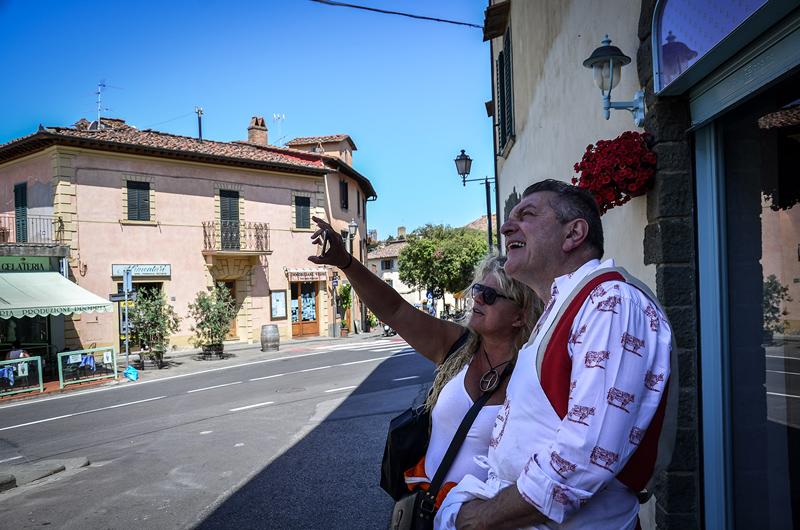 Dario Cecchini, padrino dell'evento e Nathalie Decoster